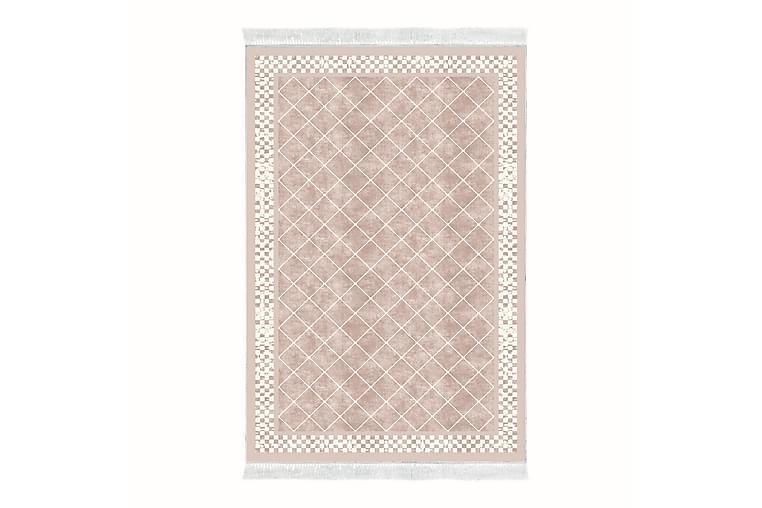 ALANUR HOME Matta 180x280 cm Blekrosa/Cremevit - Möbler & Inredning - Mattor - Wiltonmattor