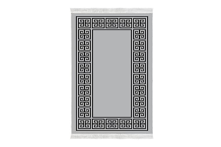 ALANUR HOME Matta 80x120 cm Grå/Svart - Möbler & Inredning - Mattor - Wiltonmattor