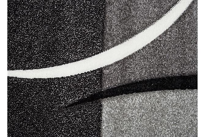 TRELEW Patch Friezematta 160x230 Rutig Svart - Inomhus - Mattor - Friezemattor