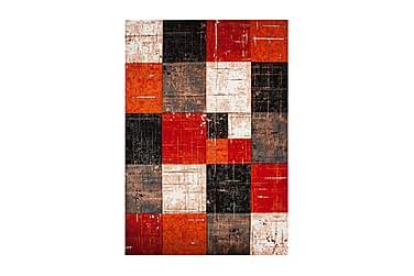 TRELEW Square Friezematta 133x190 Röd/Orange