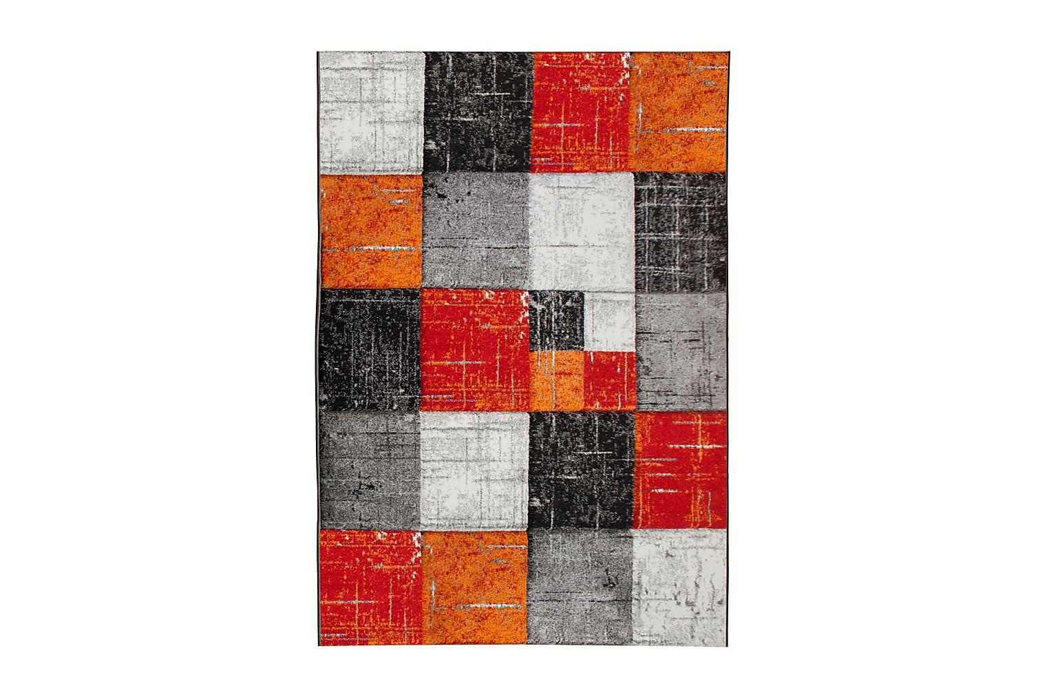 SOLANO Friezematta 160x230 Röd/Orange -