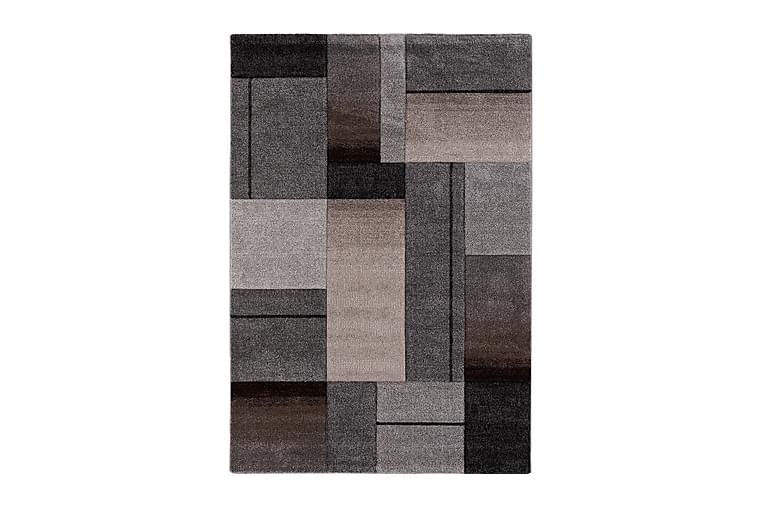 TRELEW TREND Matta 160x230 cm Grå/Linnefärg - Möbler & Inredning - Mattor - Wiltonmattor