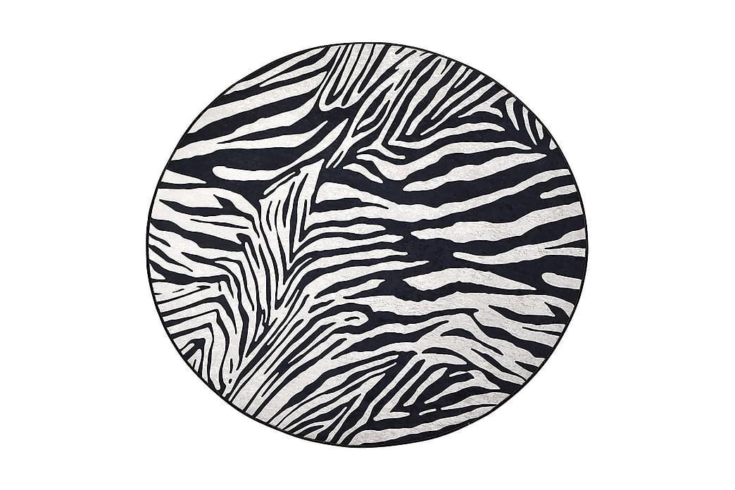 ZEBRA Matta Rund 140 cm Zebra/Sammet - Möbler & Inredning - Mattor - Wiltonmattor