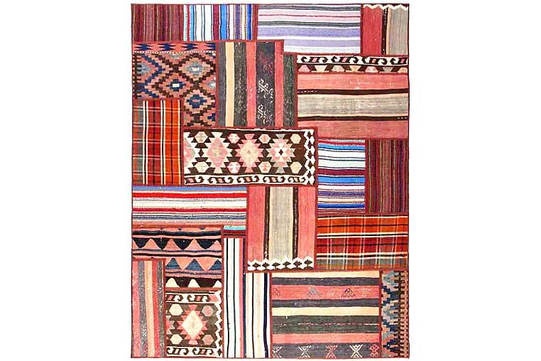 Handknuten Persisk Patchworkmatta 158x205 cm Flerfärgad - Möbler & Inredning - Mattor - Patchwork mattor
