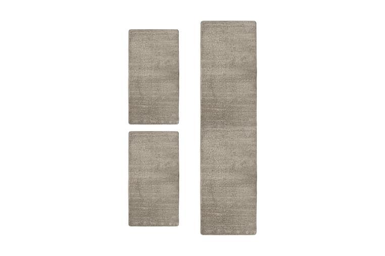 Sovrumsmattor 3 st långhårig grå - Grå - Möbler & Inredning - Mattor - Ryamattor