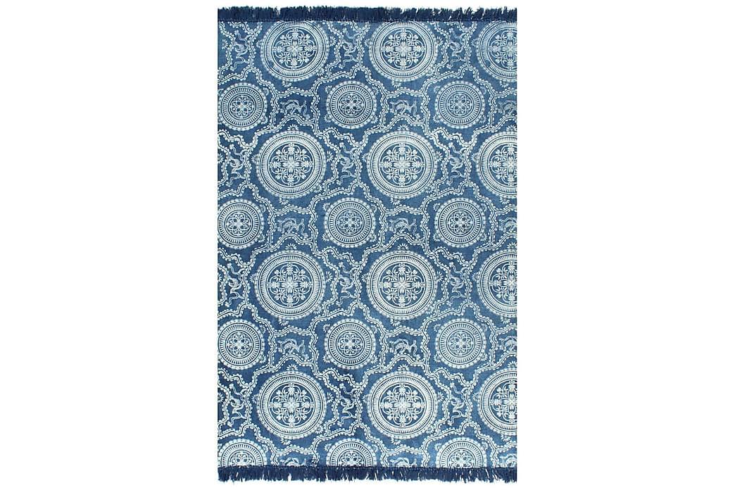 Kelimmatta bomull 160x230 cm med mönster blå - Blå - Möbler & Inredning - Mattor - Kelimmattor