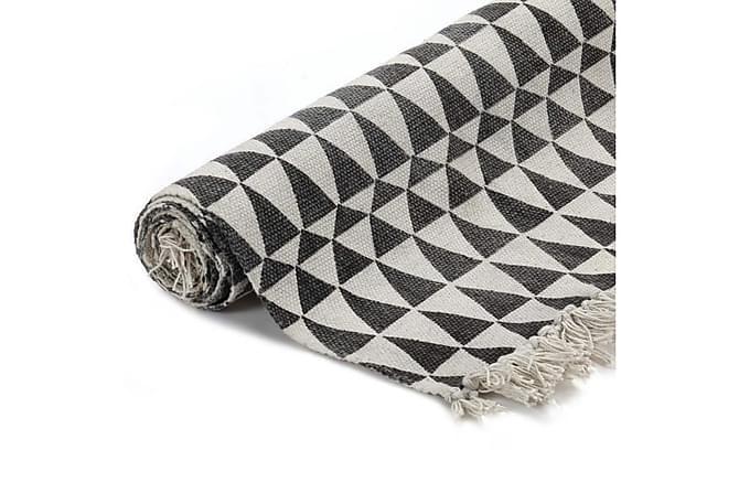 Kelimmatta bomull 160x230 m. mönster svart/vit - Inomhus - Mattor - Kelimmattor