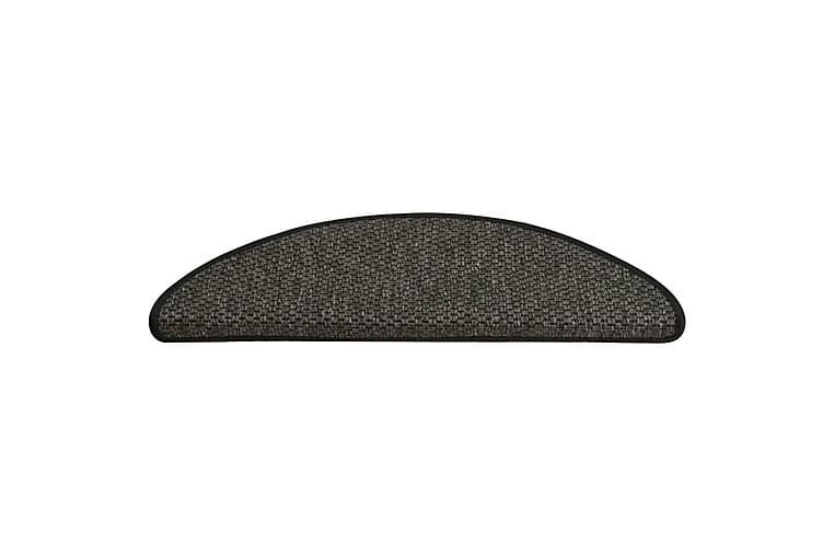 Trappstegsmattor självhäftande sisal 15 st 65x25 cm antracit - Antracit - Möbler & Inredning - Mattor - Trappstegsmattor