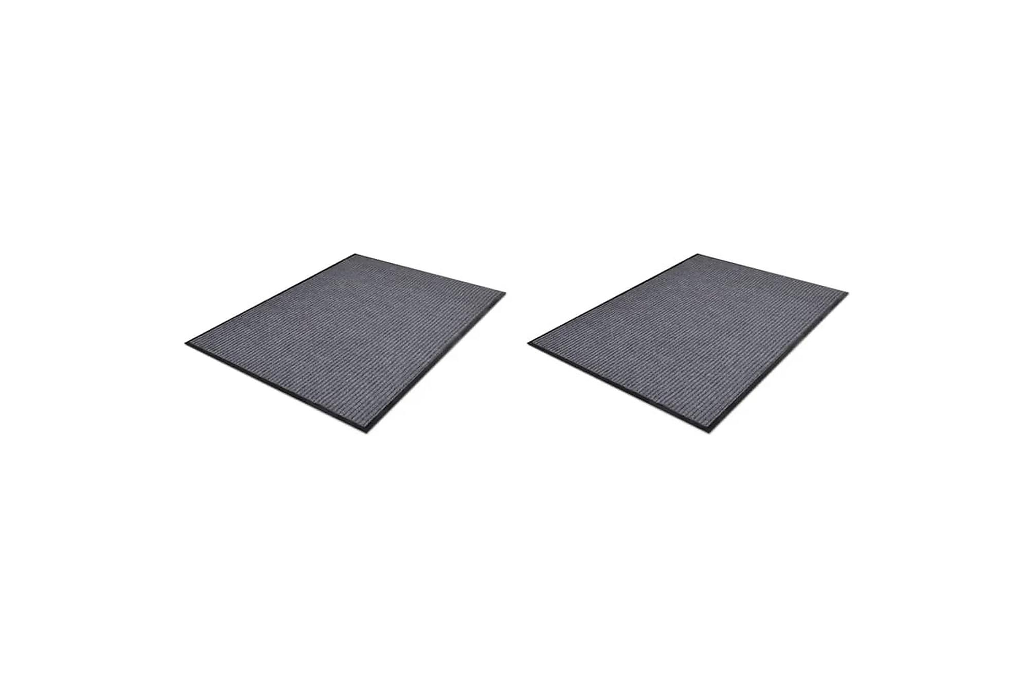Dörrmatta 2 st PVC grå 90x60 cm, Dörrmattor & entrémattor