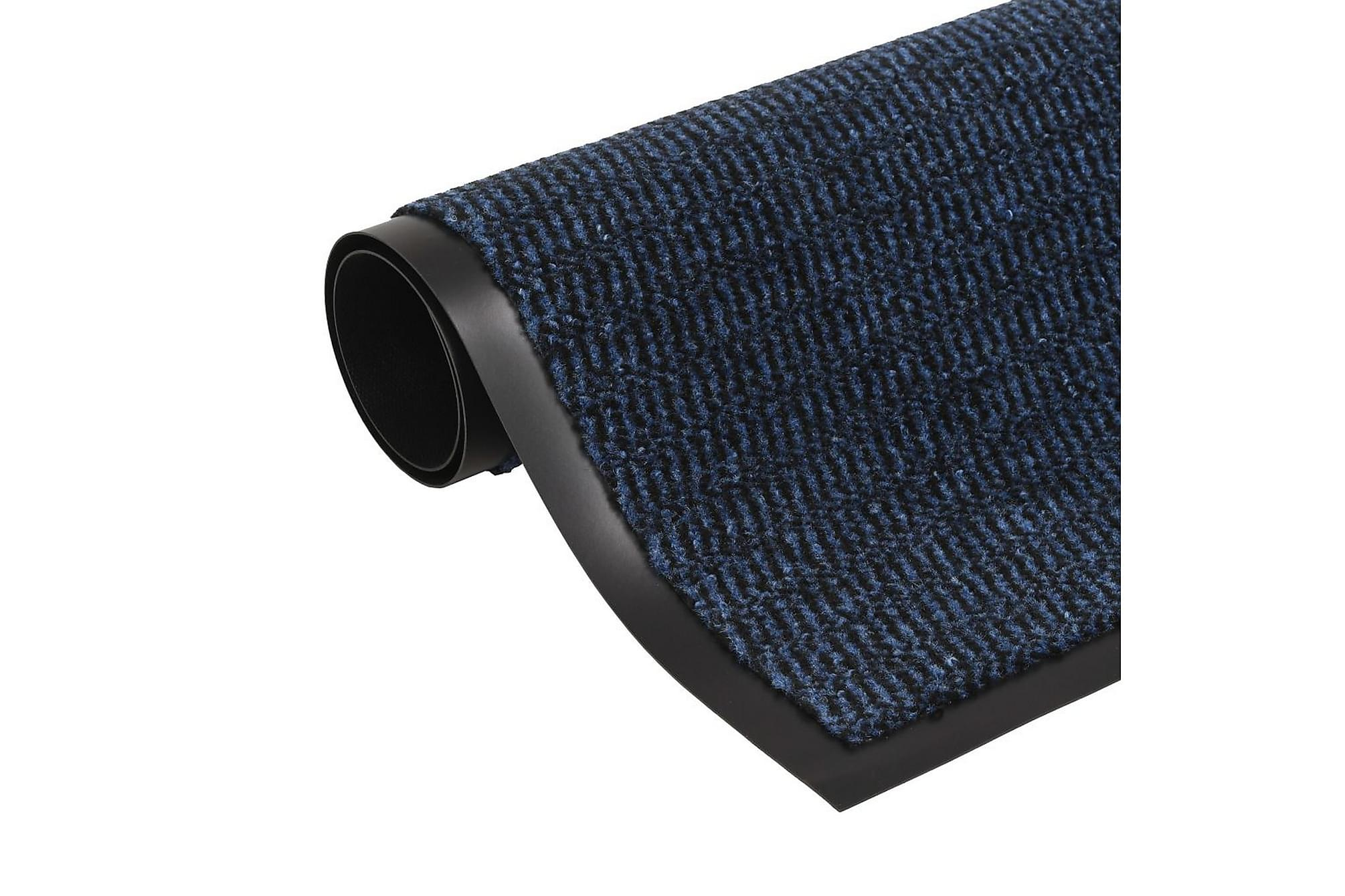 Dörrmatta rektangulär tuftad blå 40x60 cm, Dörrmattor & entrémattor