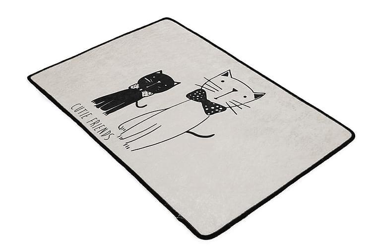 LITTLECATS Matta Oval 60x90 cm Flerfärgad/Sammet - Textilier & mattor - Mattor