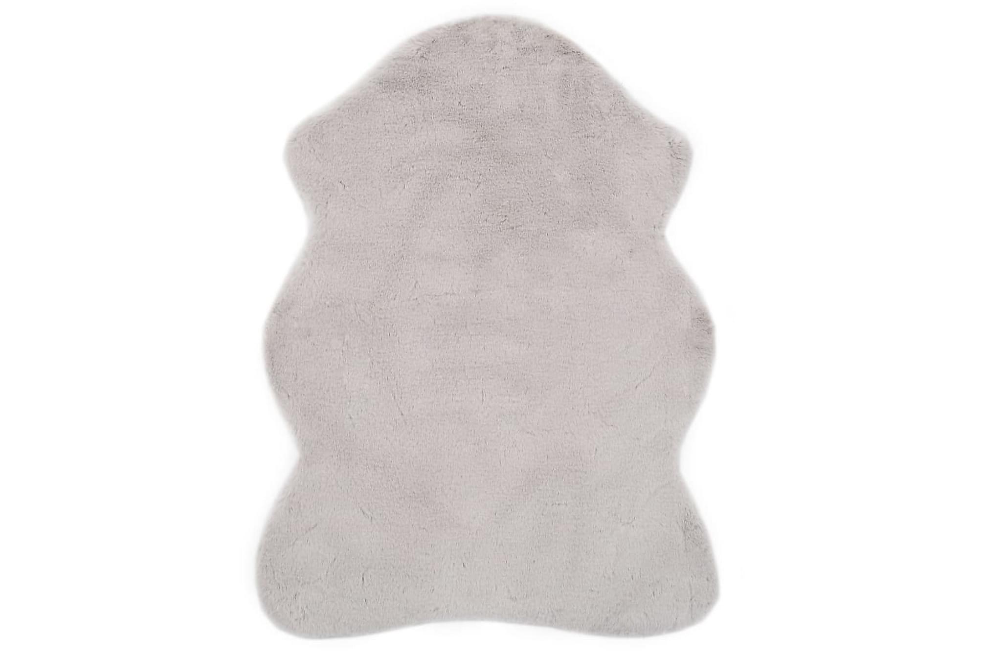 Matta 65×95 cm konstpäls grå