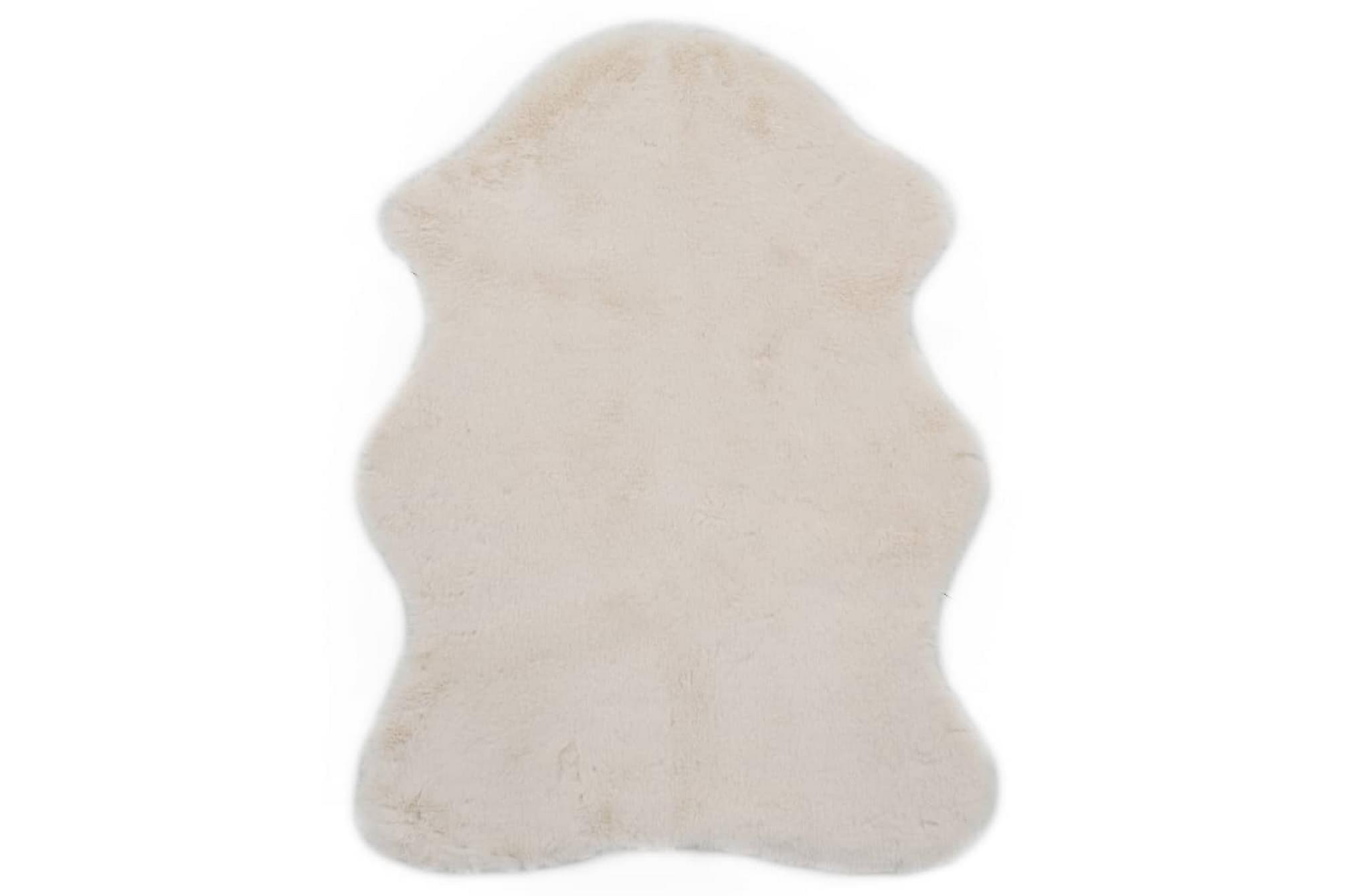 Matta 65×95 cm konstpäls gräddvit