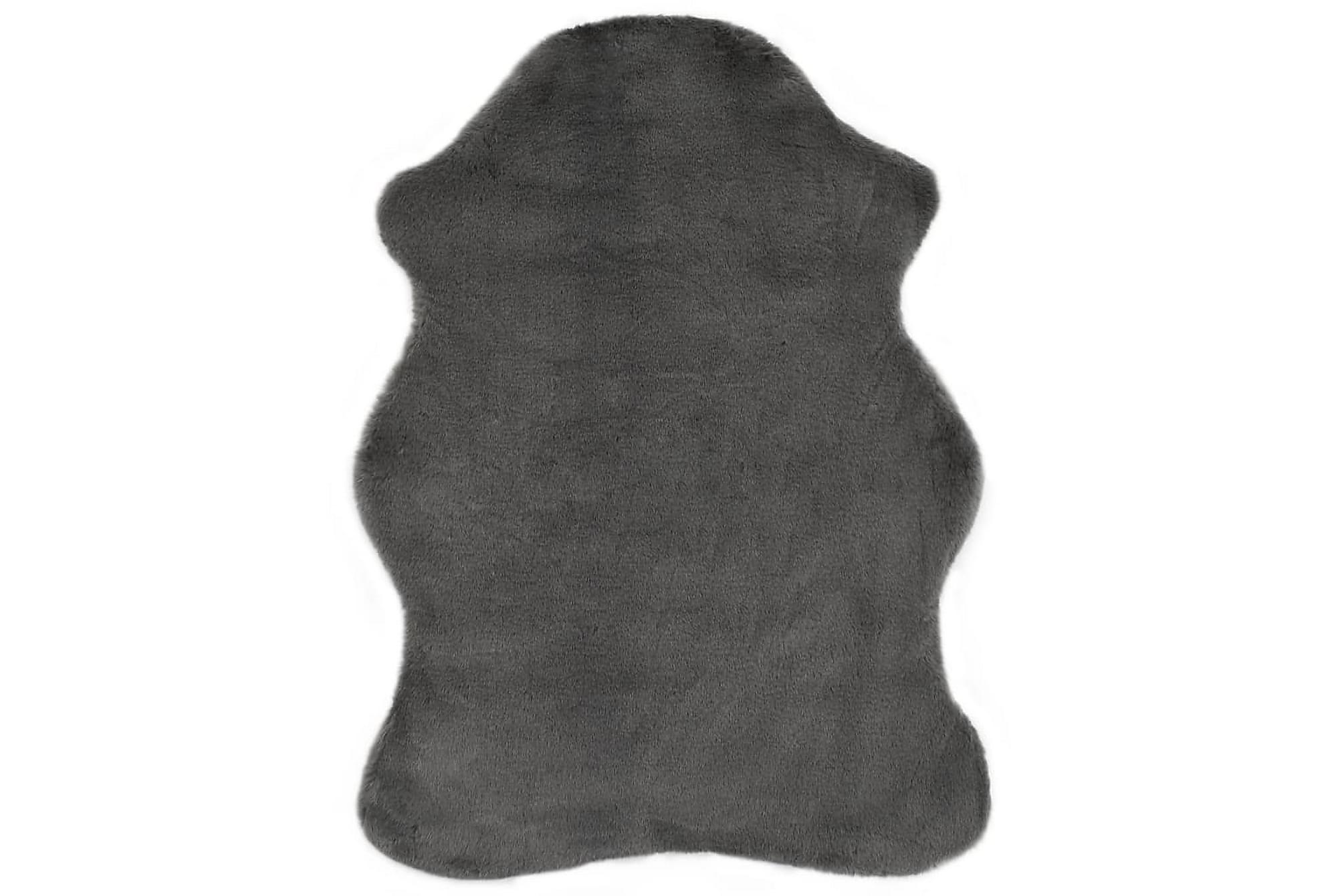 Matta 65×95 cm konstpäls mörkgrå