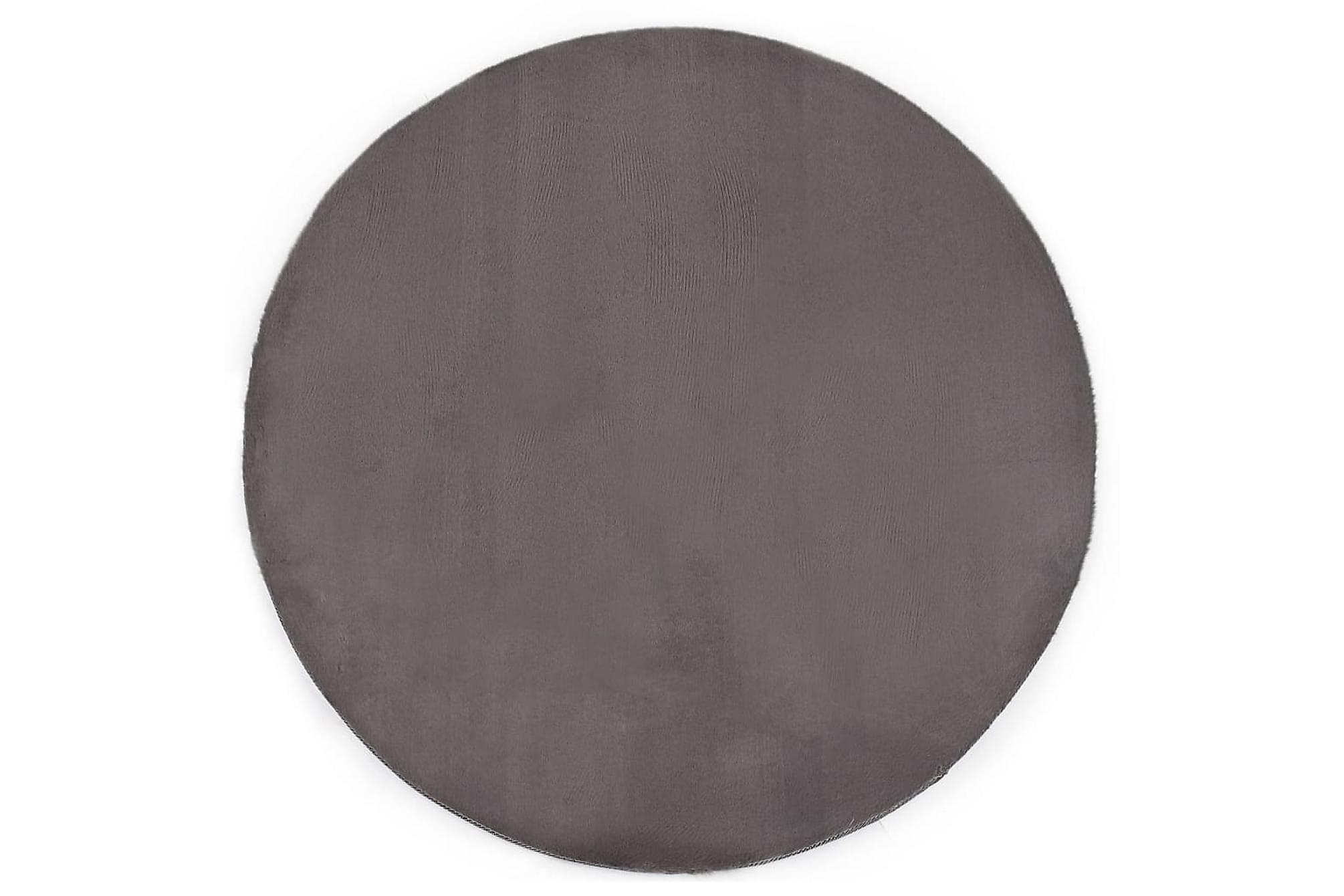 Matta 80 cm konstpäls mörkgrå