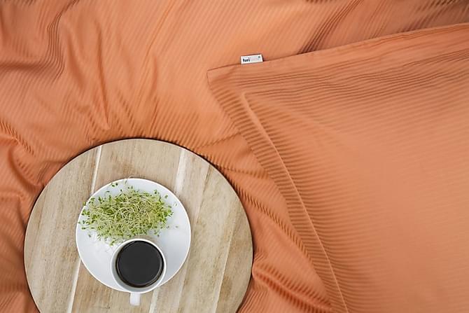 ALDERNEY Bäddset 150x210 cm Satin Orange - Möbler & Inredning - Sängar - Sängkläder