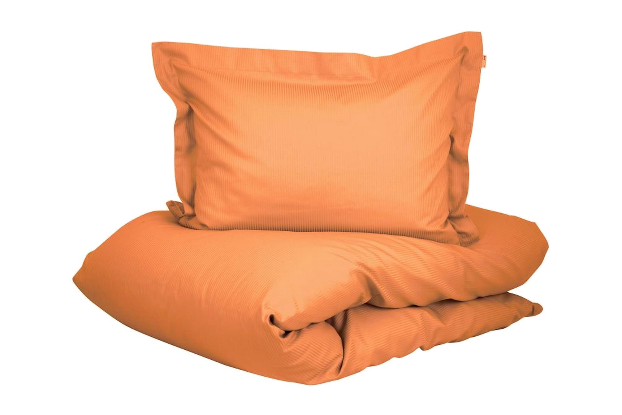 ALDERNEY Bäddset 220x230 cm Satin Orange, Sängkläder