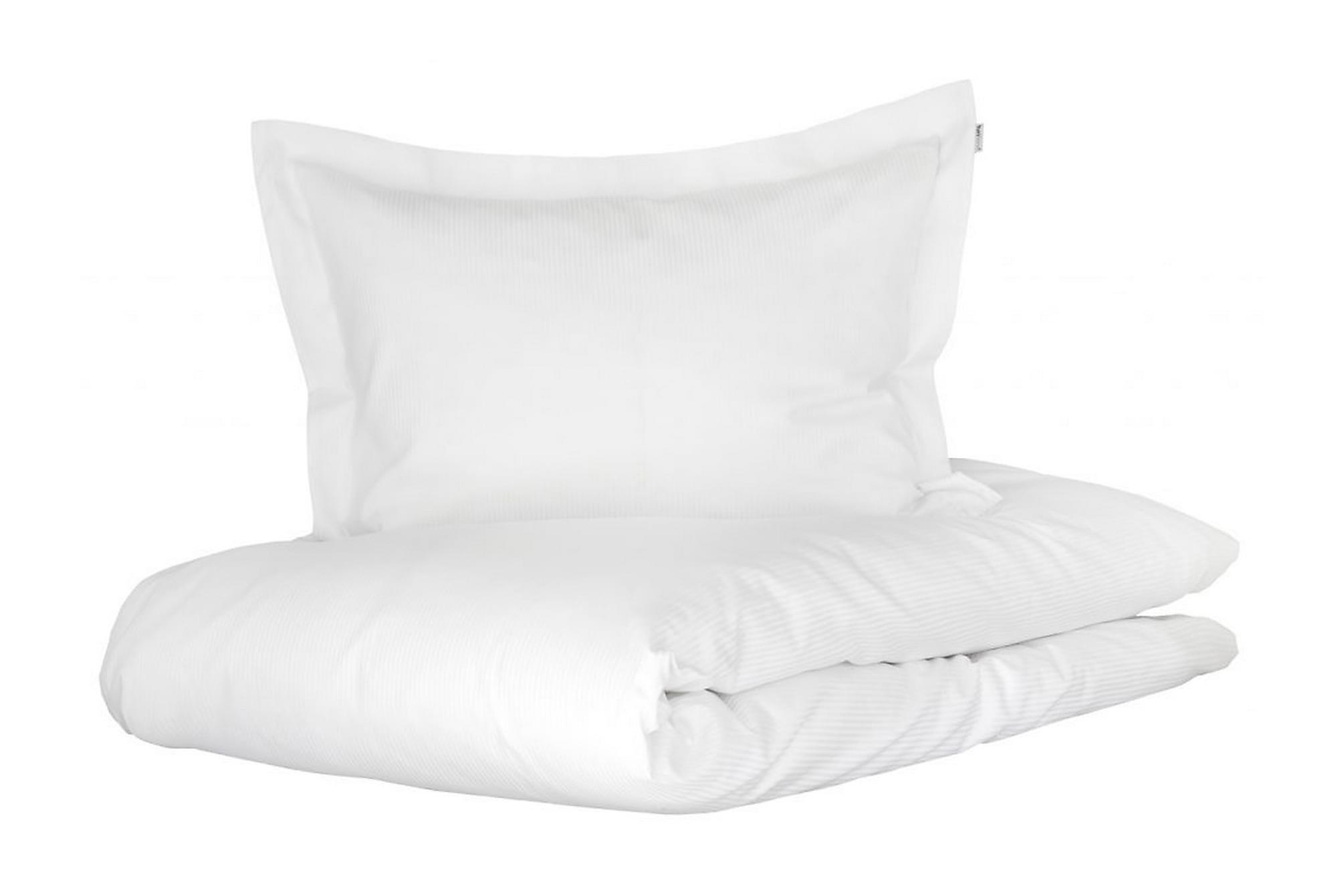 ALDERNEY Bäddset 220x230 cm Satin Vit, Sängkläder