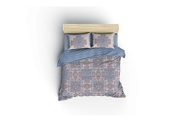 COTTON BOX RANFORCE Bäddset Blå - Möbler & Inredning - Sängar - Sängkläder