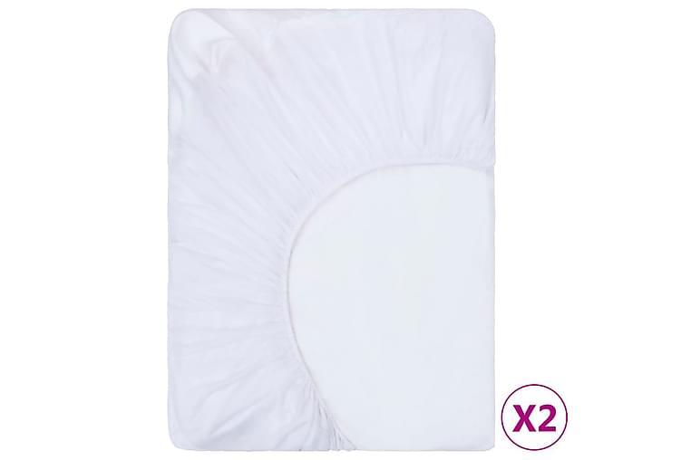Dra-på-lakan 2 st vattentäta bomull 120x200 cm vit - Vit - Möbler & Inredning - Sängar - Sängkläder