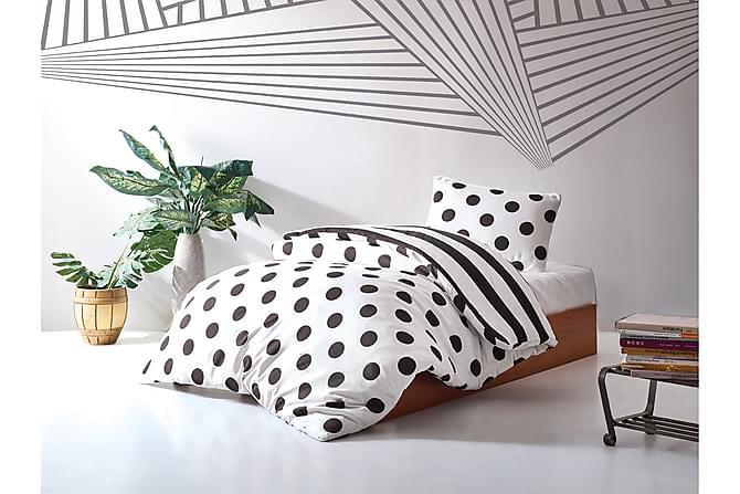 ENLORA HOME Bäddset Enkelt 3-dels Svart/Vit - Inomhus - Sängar - Sängkläder