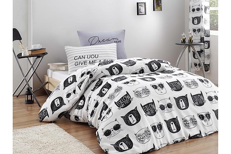 ENLORA HOME Bäddset Enkelt 3-dels Svart/Vit - Möbler & Inredning - Sängar - Sängkläder