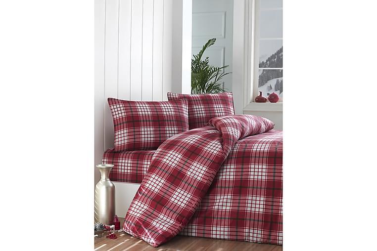 EPONJ HOME Bäddset Enkelt 3-dels Röd/Vit - Möbler & Inredning - Sängar - Sängkläder