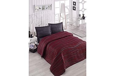 EPONJ HOME Överkast Dubbelt 200x220 Quilt+2 Örngott Röd