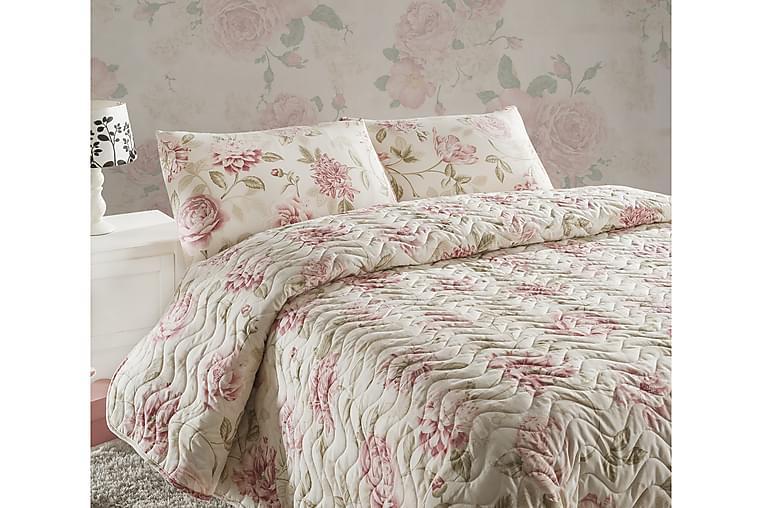 EPONJ HOME Överkast Dubbelt 200x220 Quilt+2 Örngott Rosa/San - Möbler & Inredning - Sängar - Sängkläder