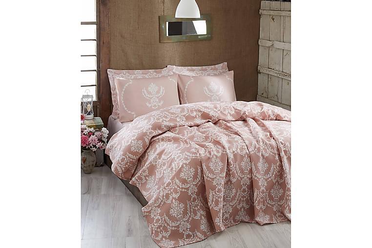 EPONJ HOME Överkast Dubbelt 200x235 Rosa/Vit - Möbler & Inredning - Sängar - Sängkläder