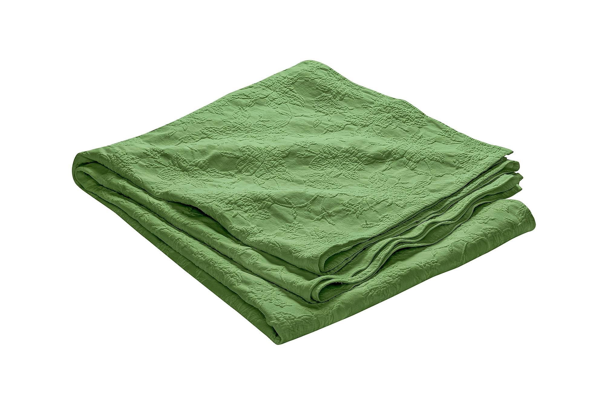 FIONA Överkast 260 Mönstrad Grön