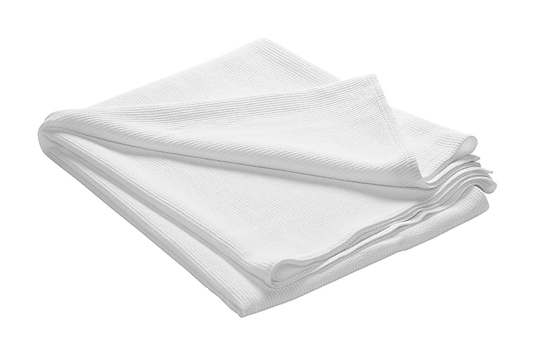 FIONA Överkast 260 Randig Vit - Möbler & Inredning - Sängar - Sängkläder