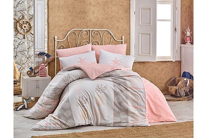 HOBBY Bäddset Enkelt 3-dels Ranforce Rosa/Beige/Vit - Inomhus - Sängar - Sängkläder