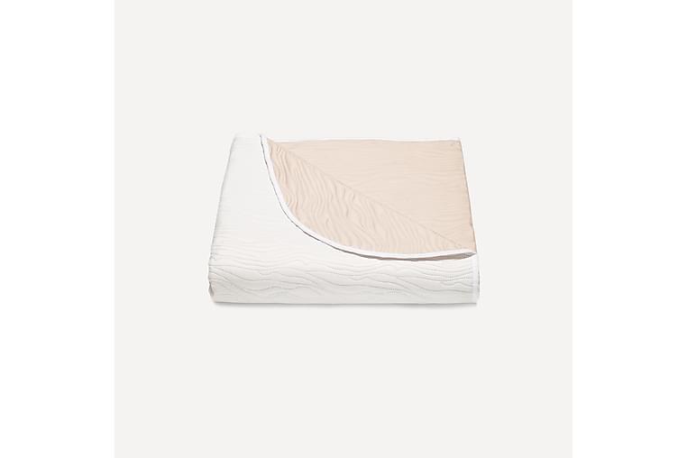 JOONAS Överkast 260x210 cm Vit/Beige - Möbler & Inredning - Sängar - Sängkläder