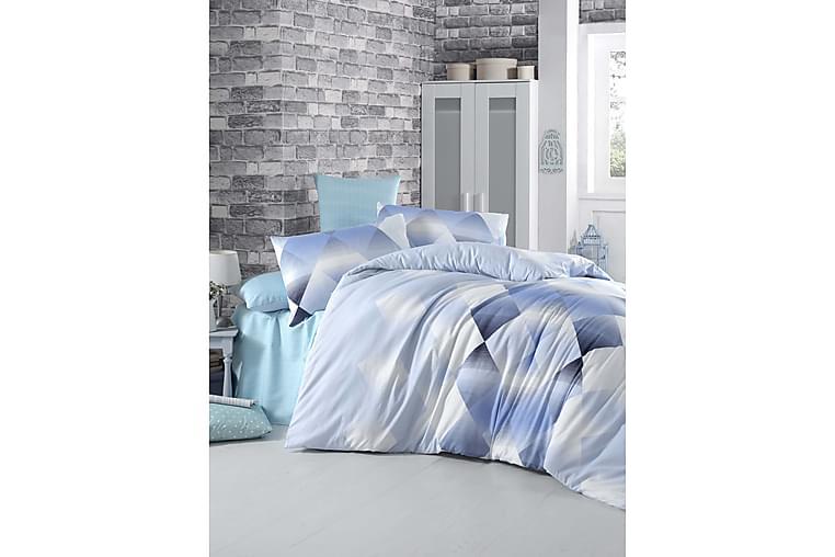 VICTORIA Bäddset Enkelt 3-dels Blå/Vit/Mörkblå - Möbler & Inredning - Sängar - Sängkläder