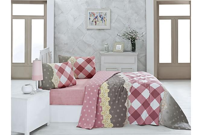 VICTORIA Överkast Enkelt 160x230 Rosa/Vit/Beige/Grå - Inomhus - Sängar - Sängkläder