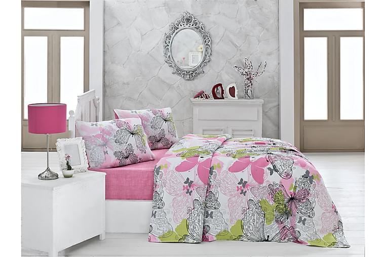 VICTORIA Överkast Enkelt 160x230 Rosa/Vit/Grön/Svart - Möbler & Inredning - Sängar - Sängkläder