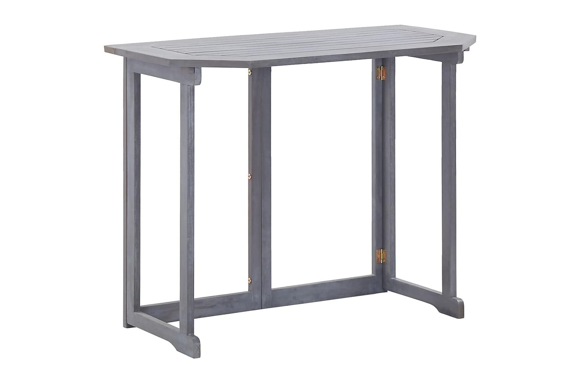Hopfällbart balkongbord 120x70x74 cm massivt akaciaträ