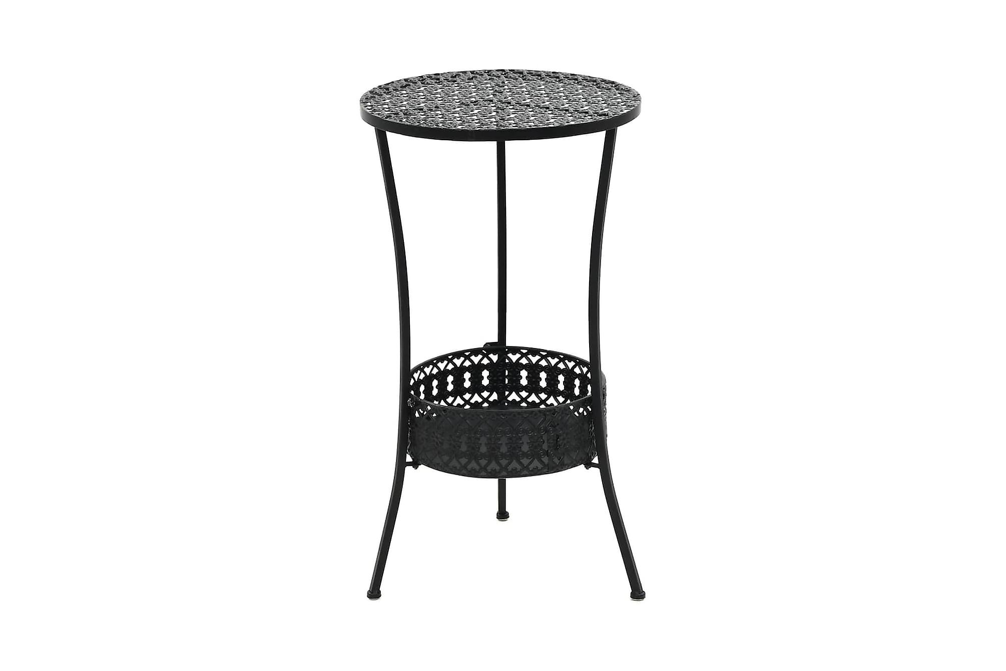 Bistrobord svart 40x70 cm metall, Balkongbord