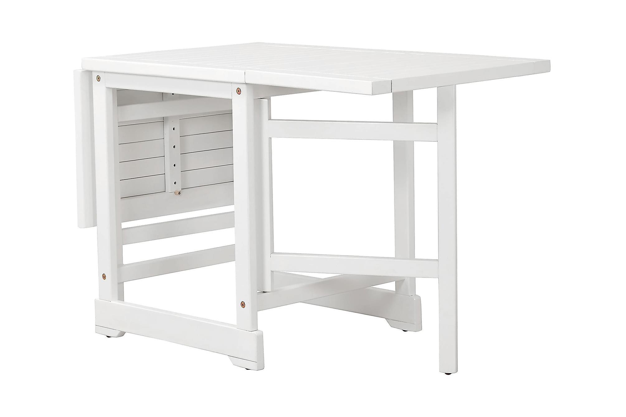 DALARÖ Slagbord 67-140×60 Vitlackad Akacia