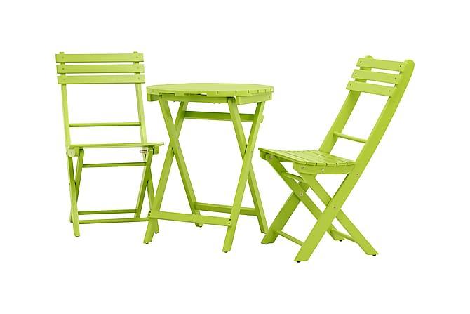 HUSARÖ Cafébord 60 Runt Grönlackad Akacia - Utemöbler - Balkongmöbler - Balkongbord