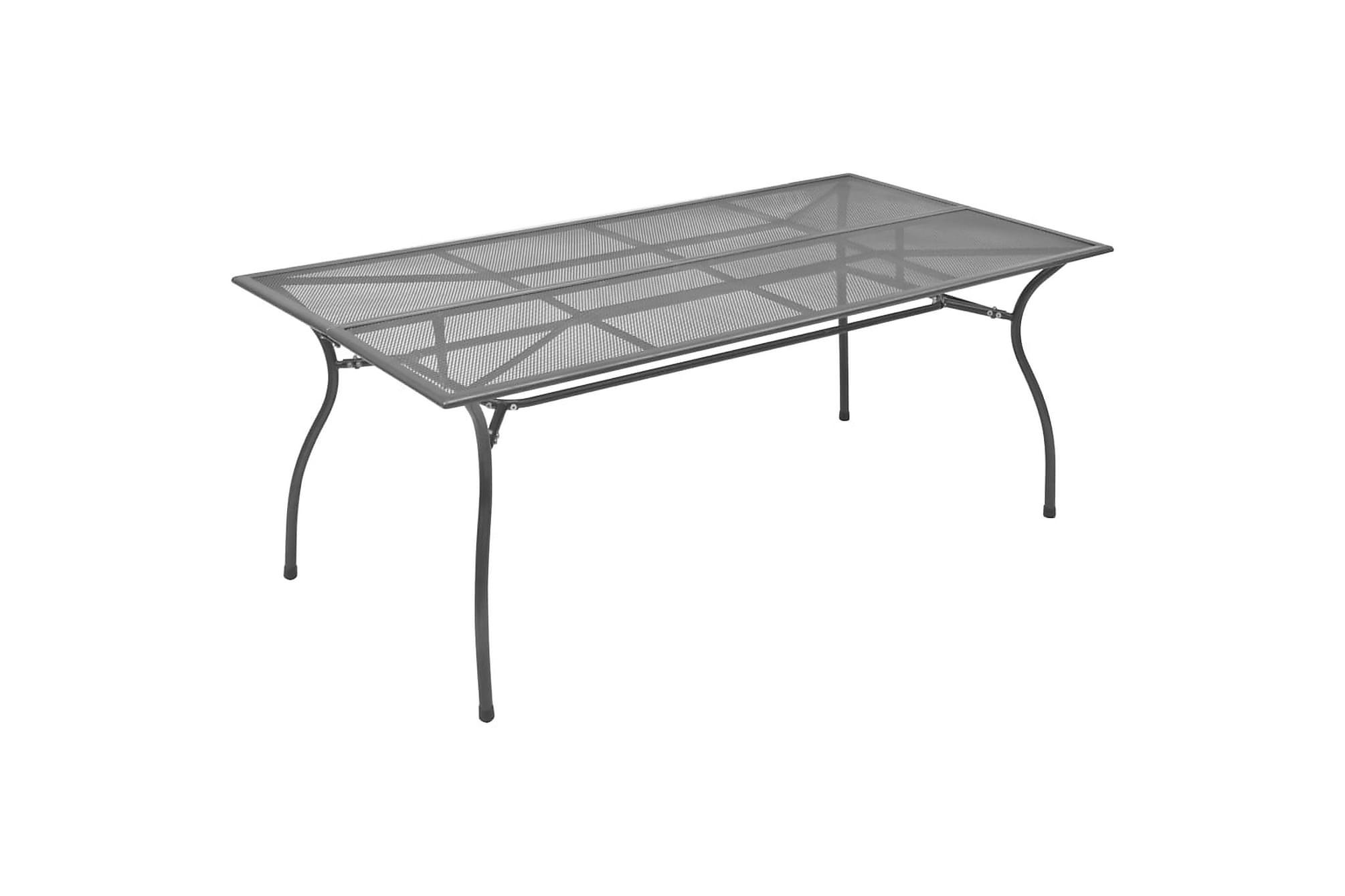 Trädgårdsbord antracit 180x83x72 cm stålnät