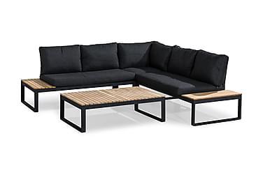 BASTIAN Loungeset Svart/Akacia
