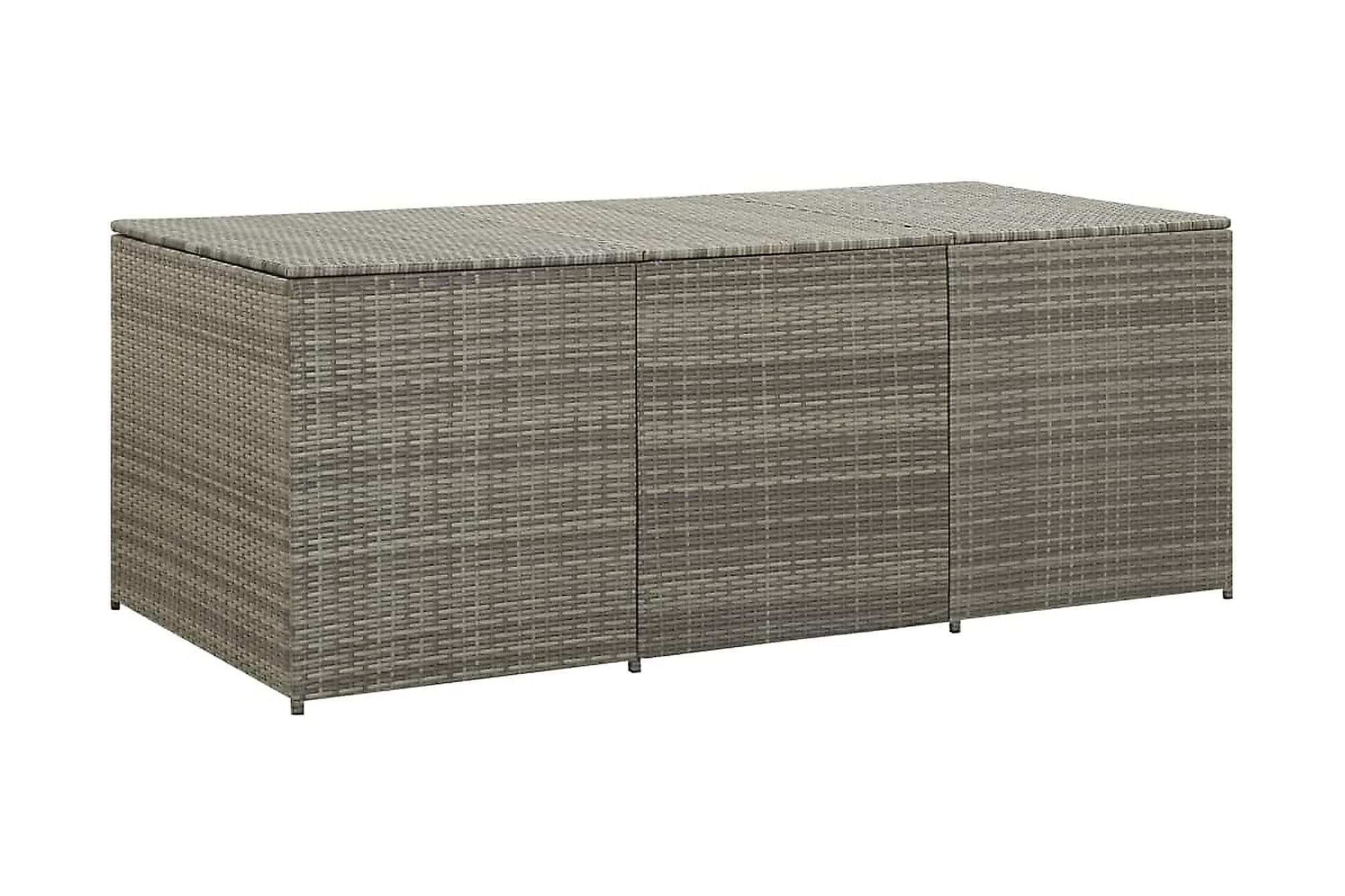 Trädgårdslåda konstrotting 180x90x75 cm grå