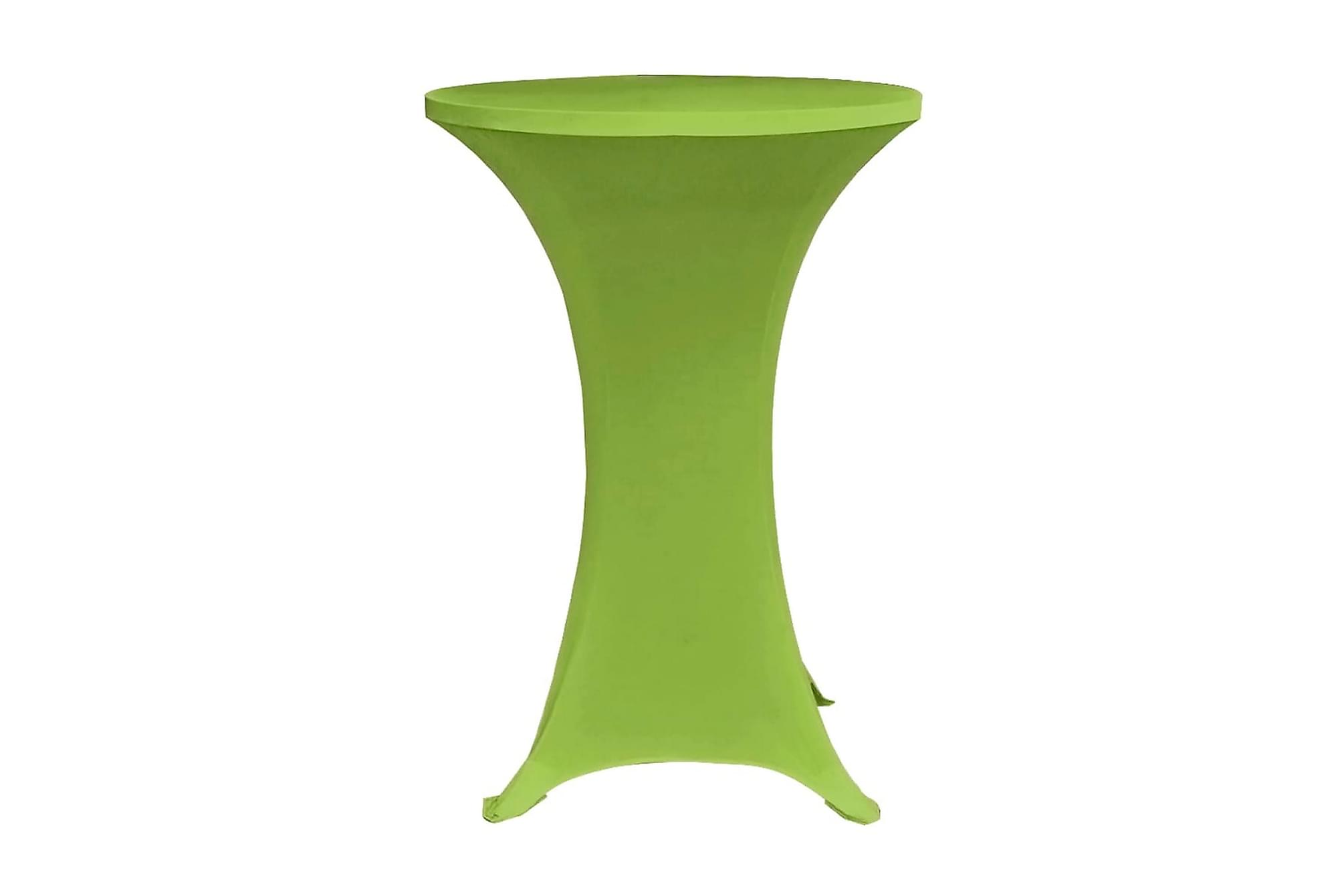 Bordsöverdrag 4 st 80 cm stretch grön