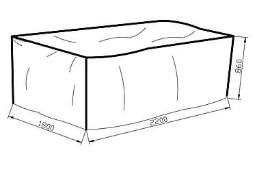 KARIBIB Möbelskydd 180x86x220 Grå