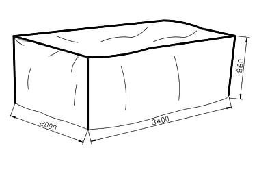 KARIBIB Möbelskydd 200x86x340 Grå