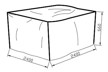 KARIBIB Möbelskydd 240x66x240 Grå