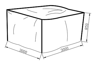 KARIBIB Möbelskydd 300x85x300 Grå