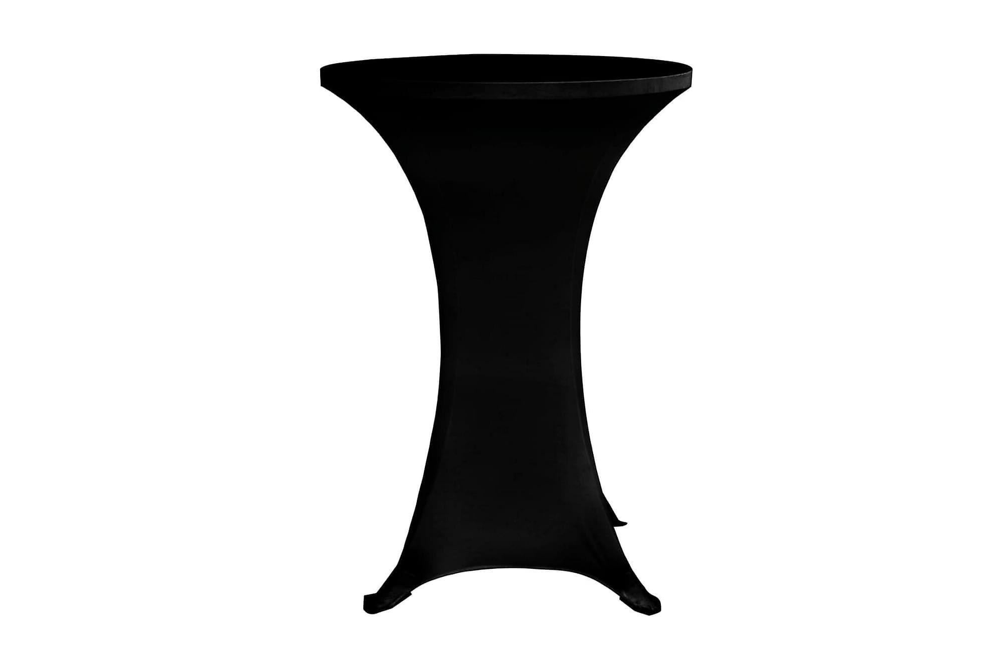 Överdrag till ståbord Ø70 cm svart stretch 4 st